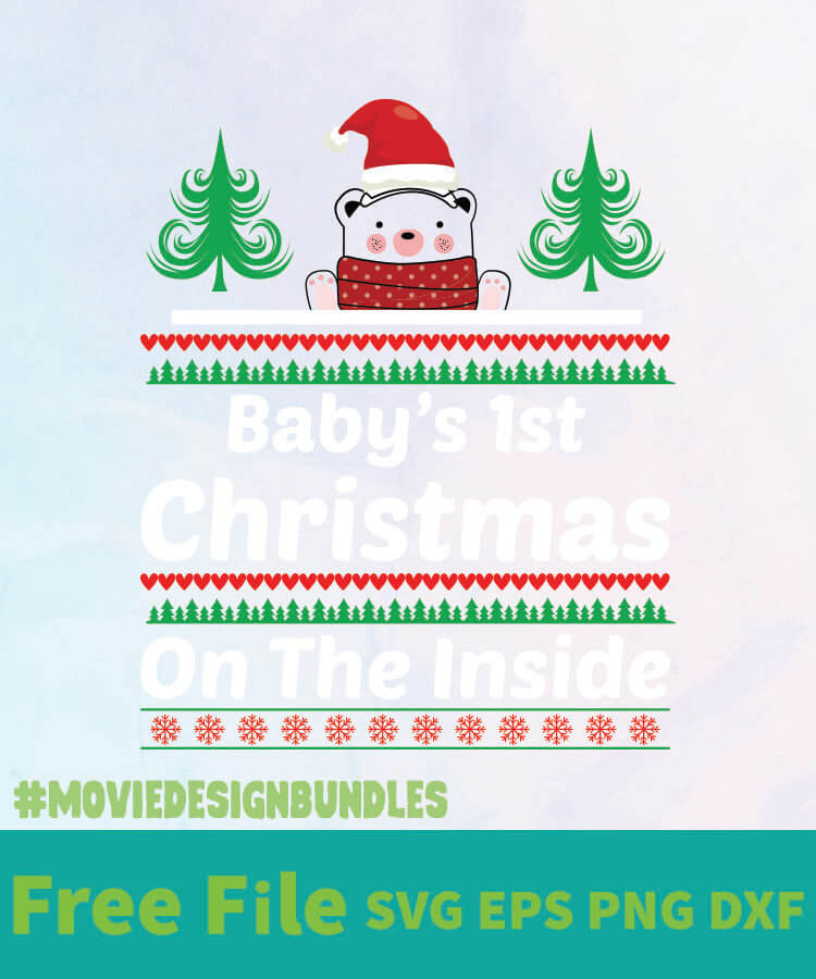 Download BABY'S 1ST CHRISTMAS FREE DESIGNS SVG, ESP, PNG, DXF FOR ...