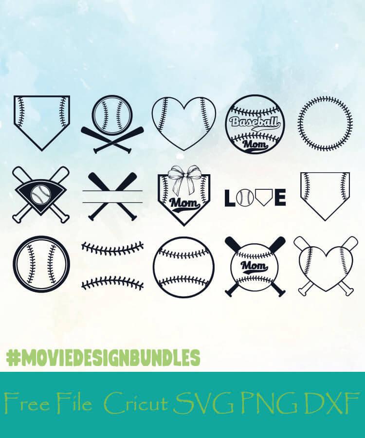Download Baseball Monogram Frames Free Designs Svg Png Dxf For Cricut Movie Design Bundles