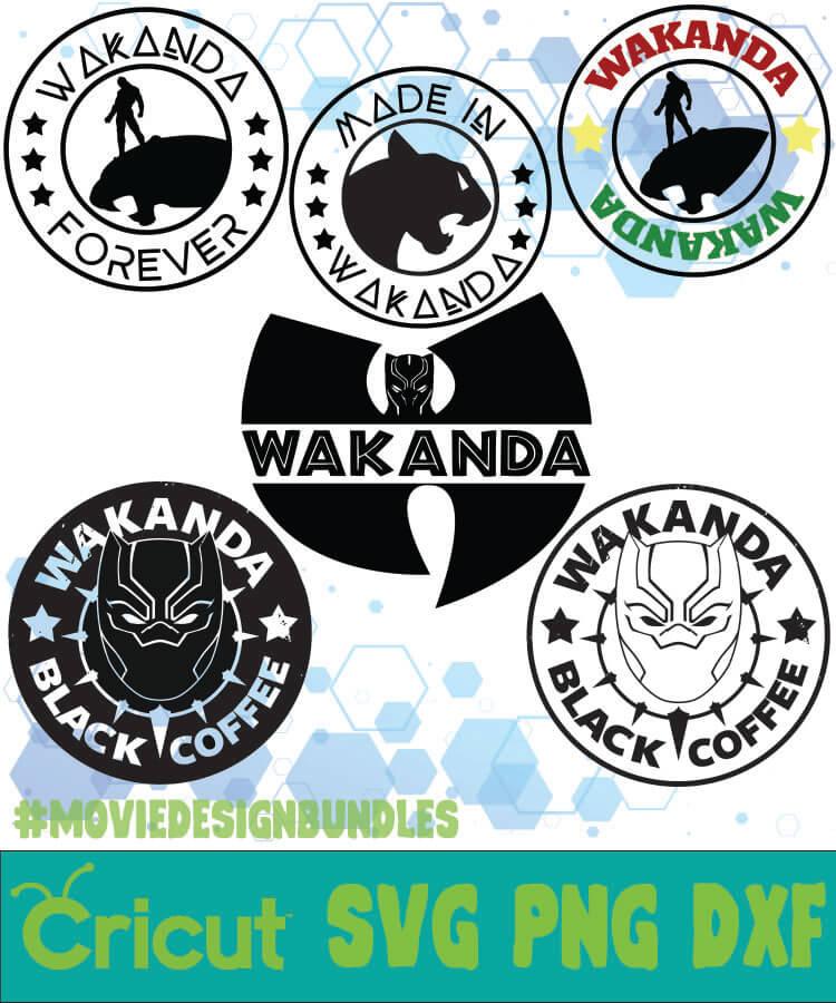Black Panther 1 Marvel Bundle Svg Png Dxf Movie Design Bundles