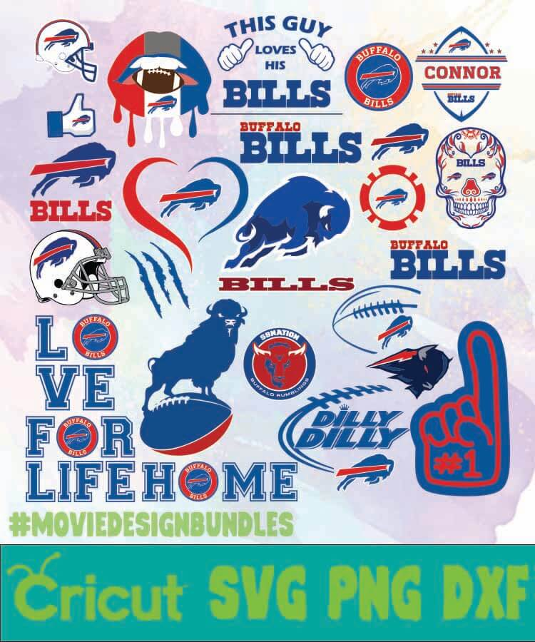Buffalo Bills Logo Bundles Svg Png Dxf Movie Design Bundles
