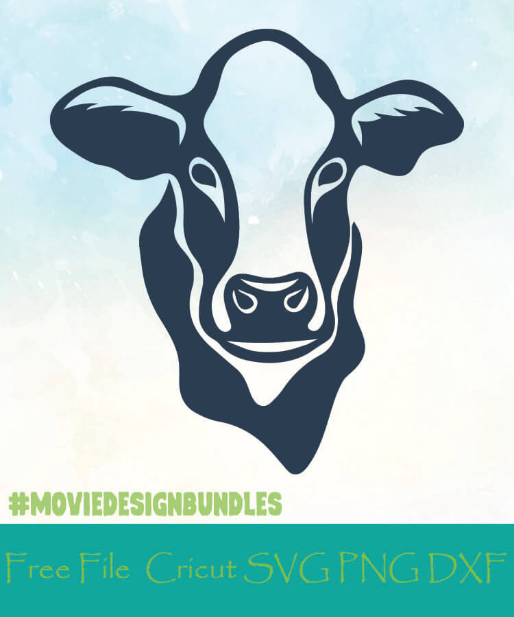 Download COW FACE FREE DESIGNS SVG, PNG, DXF FOR CRICUT - Movie ...