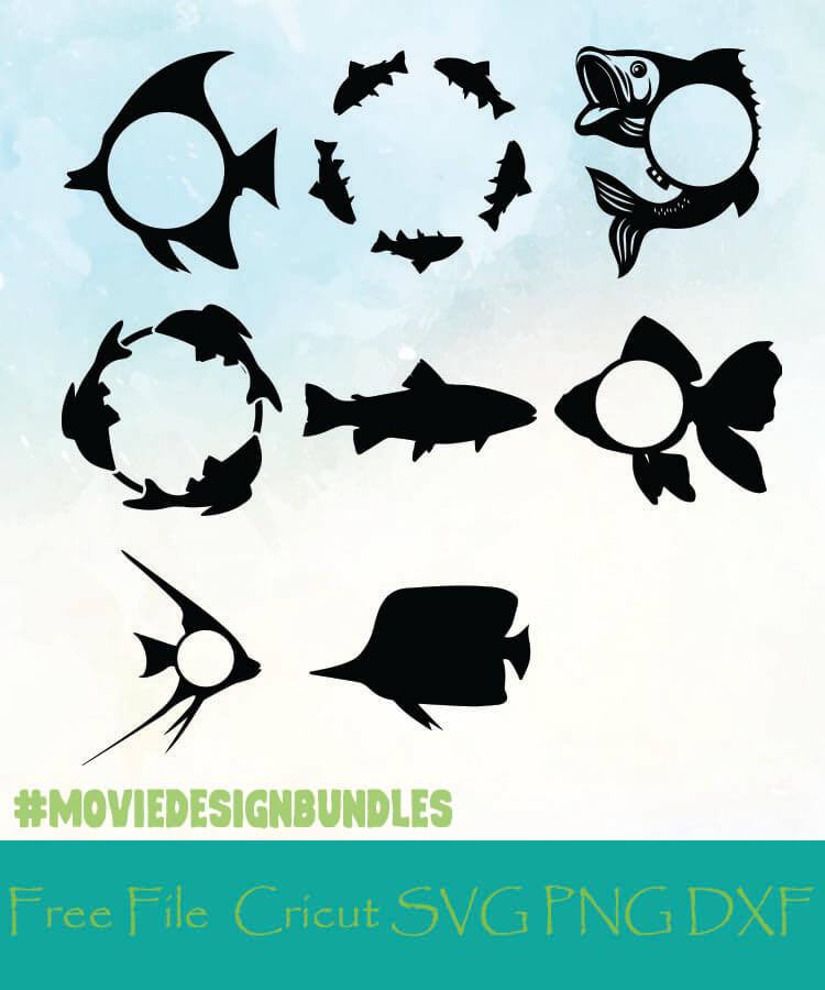 Download Fish Monogram Frames Free Designs Svg Png Dxf For Cricut Movie Design Bundles