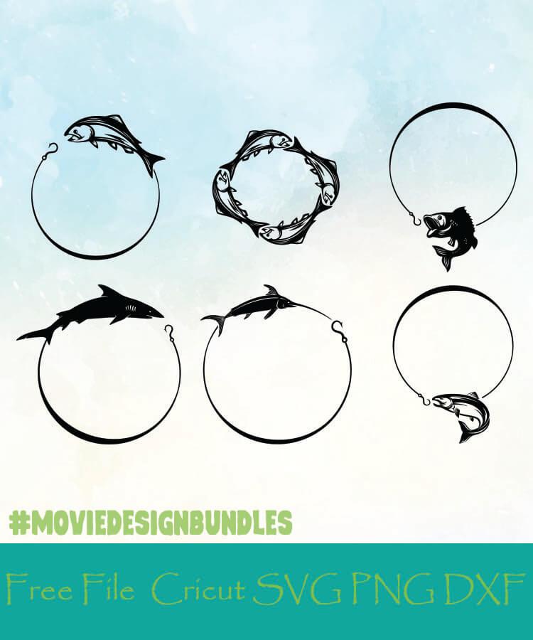 Download Fishing Monogram Frames Free Designs Svg Png Dxf For Cricut Movie Design Bundles