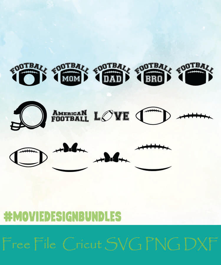 Football Monogram Frames Free Designs Svg Png Dxf For Cricut Movie Design Bundles