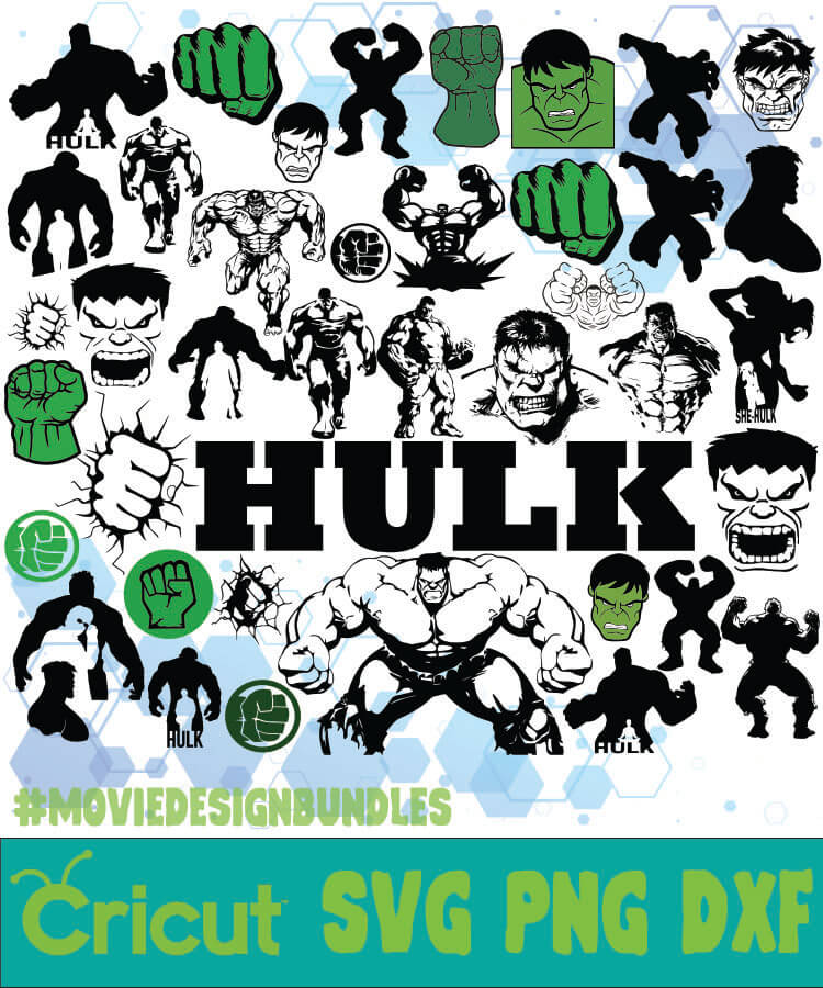 Hulk Marvel Bundle Svg Png Dxf Movie Design Bundles