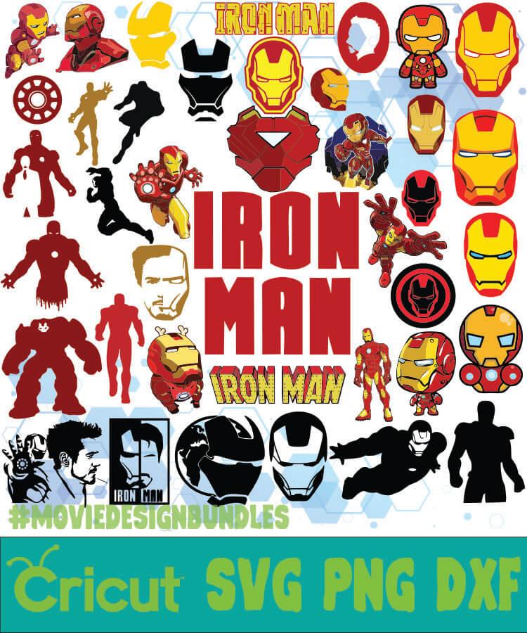 Ironman Marvel Bundle Svg Png Dxf Movie Design Bundles