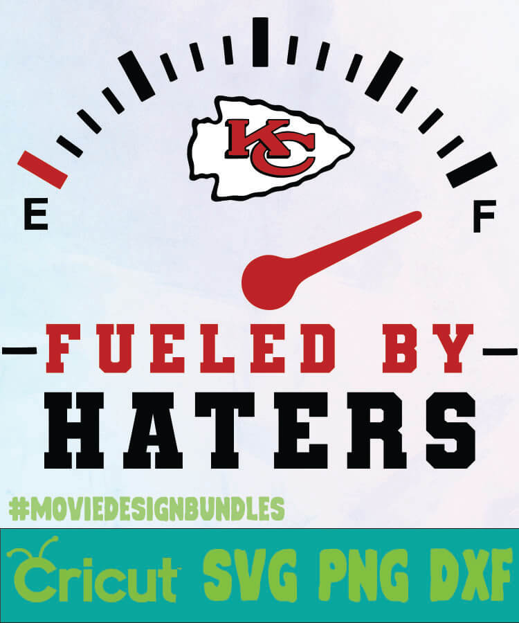 Kansas City Chiefs Fueled By Haters Logo Svg Png Dxf Movie Design Bundles
