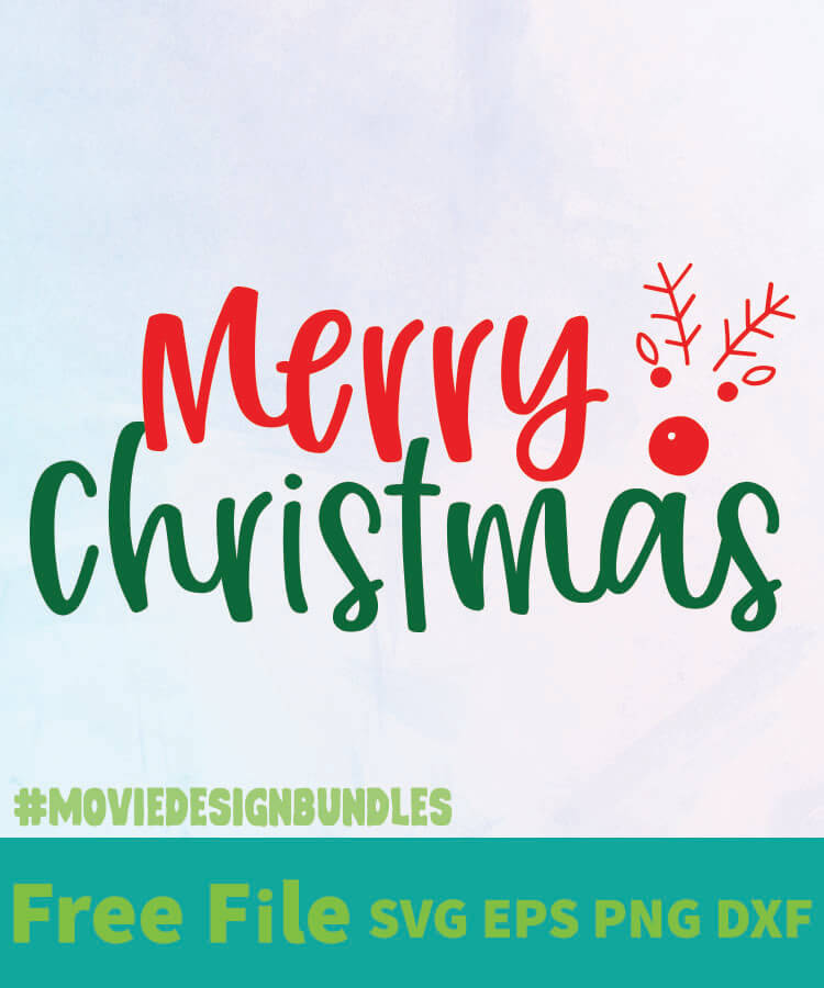 Download MERRY CHRISTMAS 1 FREE DESIGNS SVG, ESP, PNG, DXF FOR ...