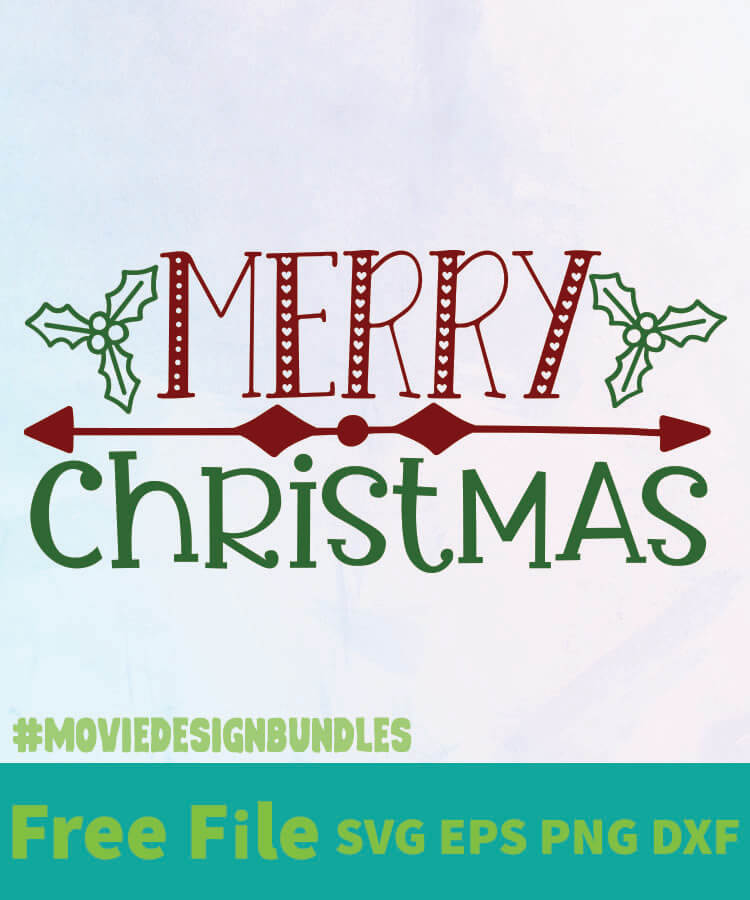 Download MERRY CHRISTMAS 2 FREE DESIGNS SVG, ESP, PNG, DXF FOR ...