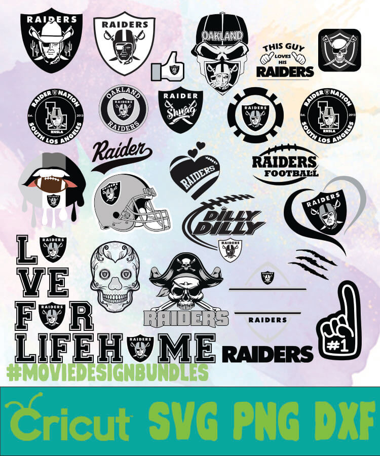 Oakland Raiders Logo Bundles Svg Png Dxf Movie Design Bundles