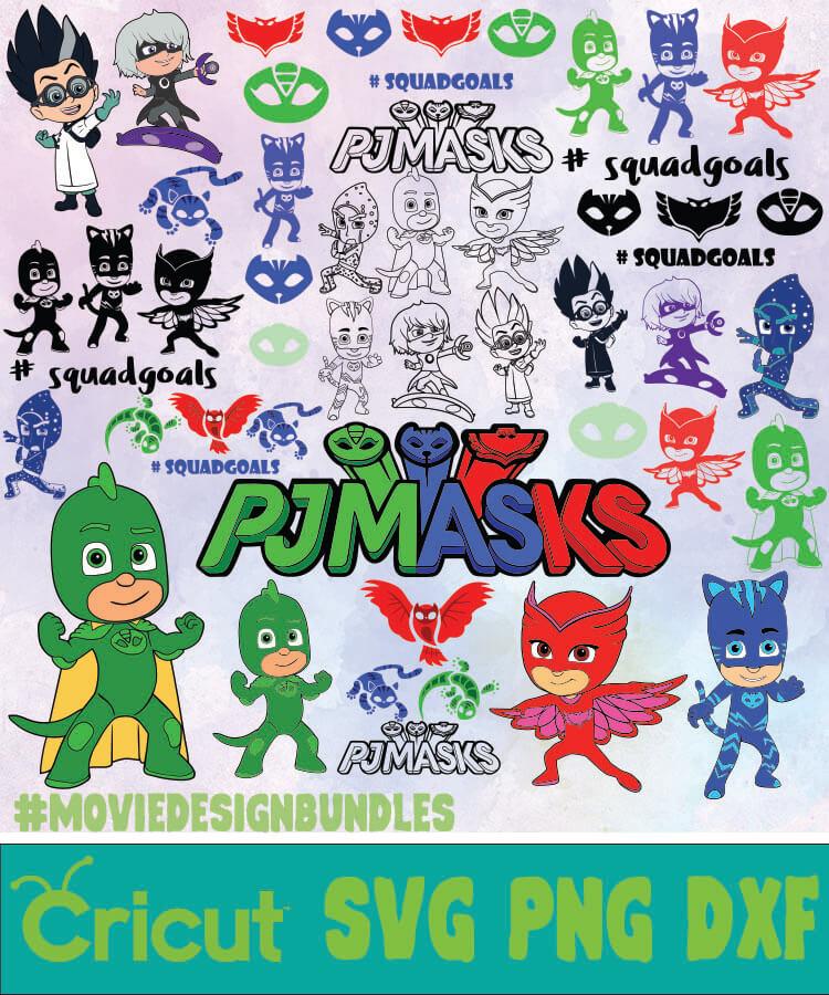 Pj Masks Bundle Svg Png Dxf Movie Design Bundles