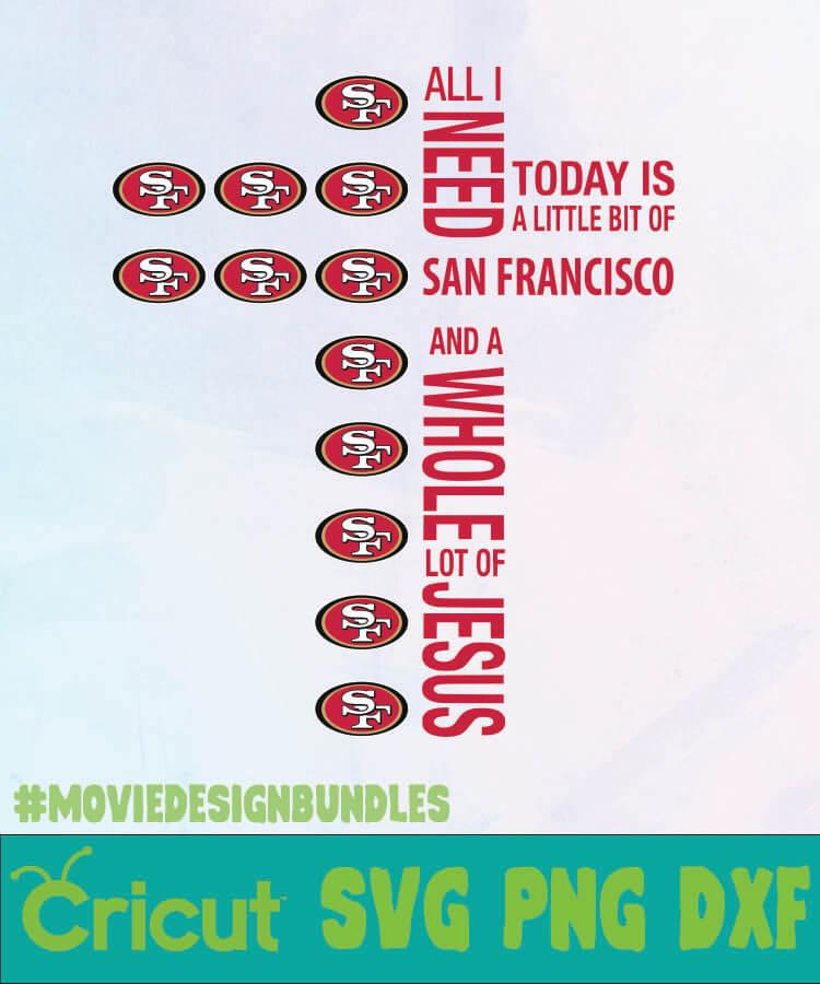 San Francisco 49ers Jesus Logo Nfl Svg Png Dxf Movie Design Bundles