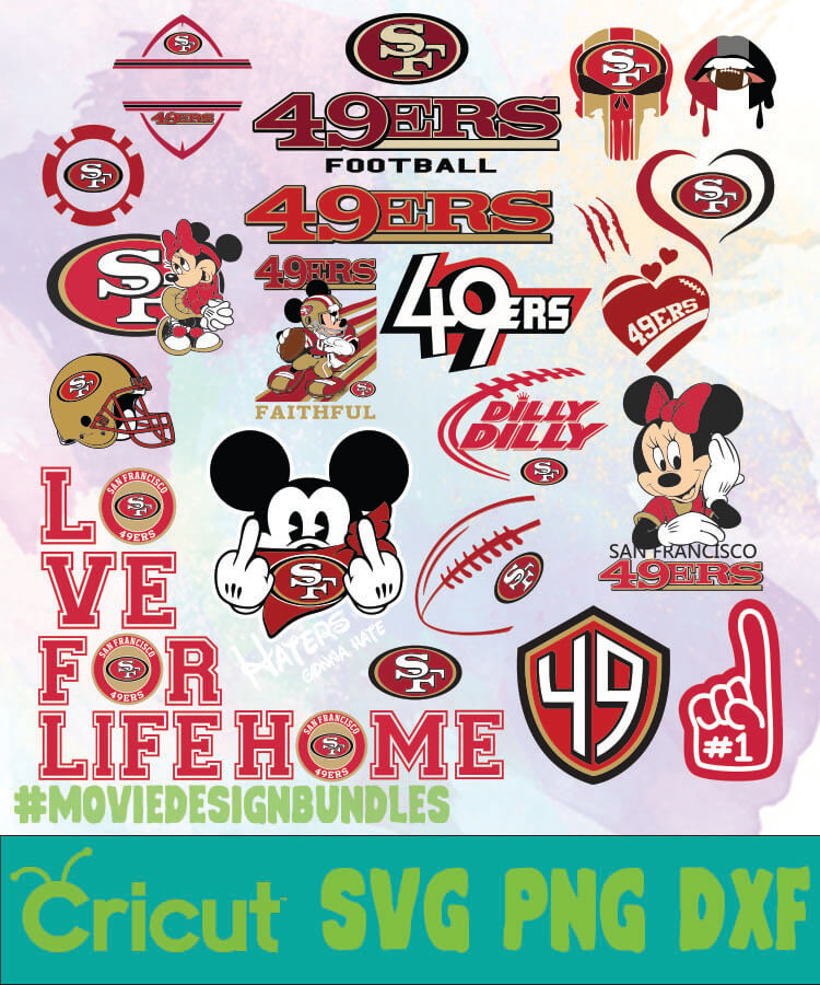 San Francisco 49ers Logo Bundles Svg Png Dxf Movie Design Bundles