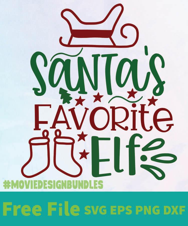 Santa S Favourit Elf 01 Free Designs Svg Esp Png Dxf For Cricut Movie Design Bundles
