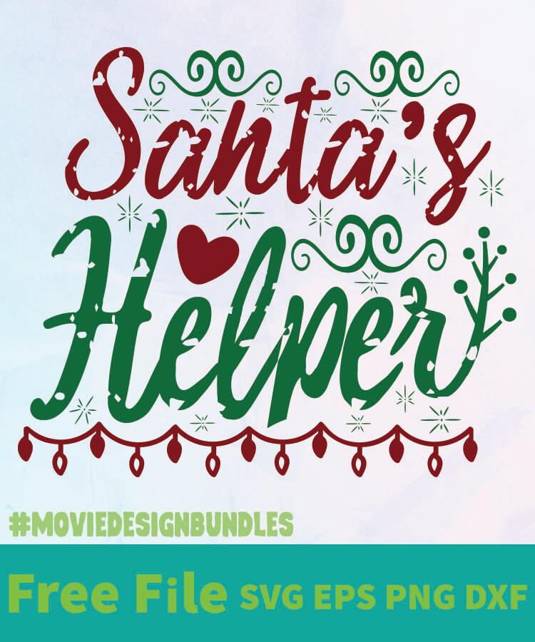 Santas Helper 01 Free Designs Svg Esp Png Dxf For Cricut Movie Design Bundles