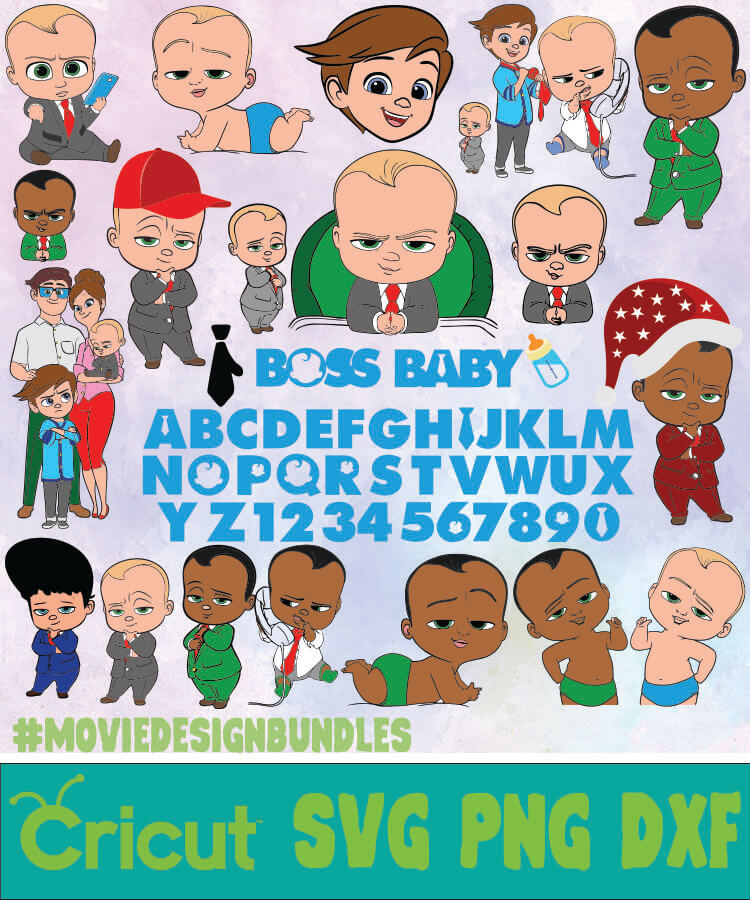 The Boss Baby Disney Bundle Svg Png Dxf Movie Design Bundles