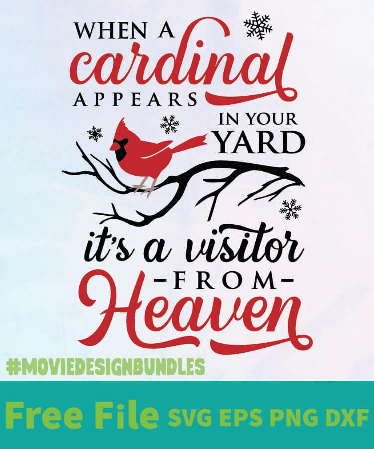 When A Cardinal Appears Free Designs Svg Esp Png Dxf For Cricut Movie Design Bundles