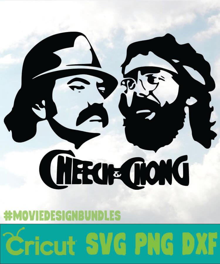 Cheech And Chong 2 Cannabis Svg Png Dxf Cricut Movie Design Bundles