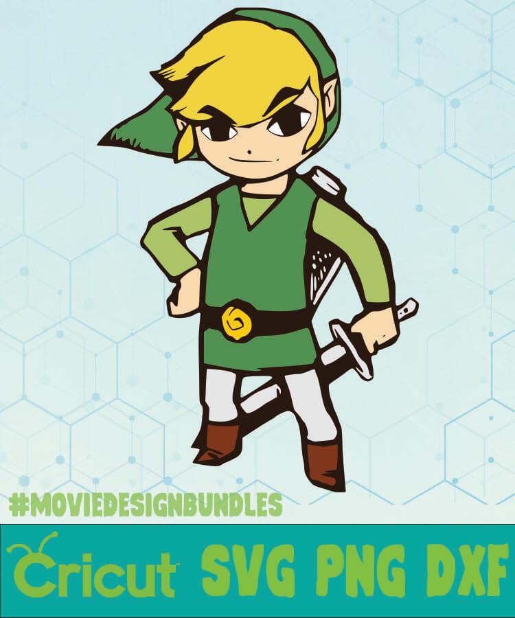 Legend Of Zelda Link Games Svg Png Dxf Cricut Movie Design Bundles