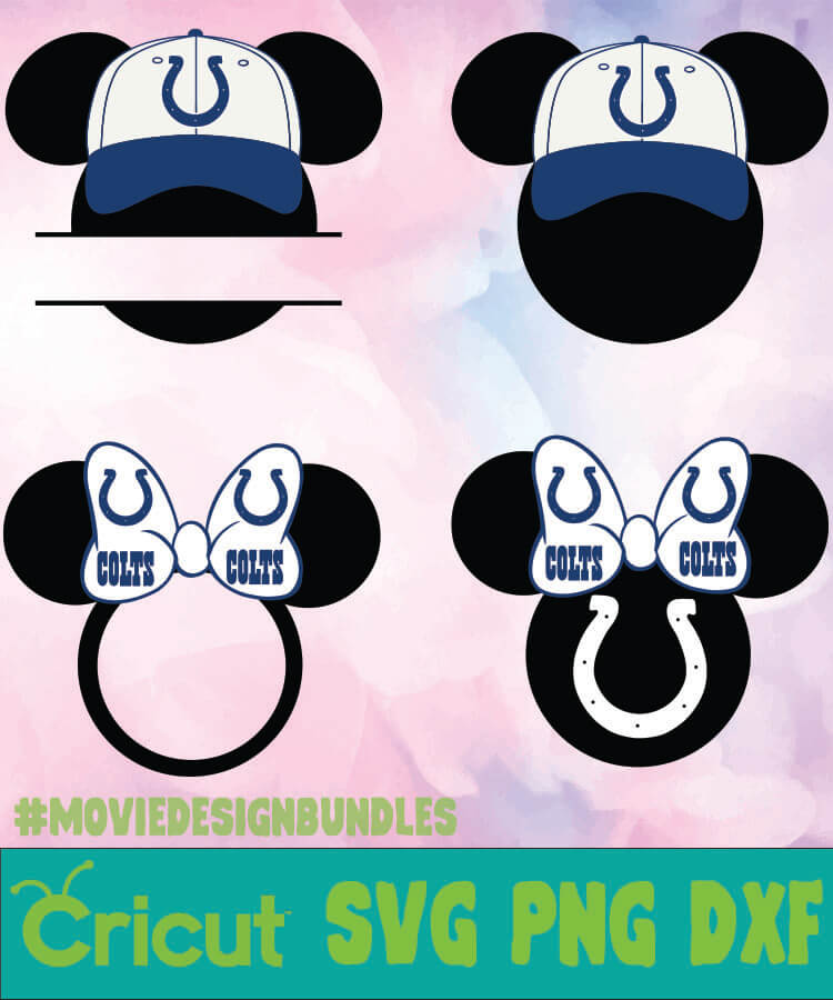 Indianapolis Colts Nfl Mickey Monogram Svg Png Dxf Movie Design Bundles