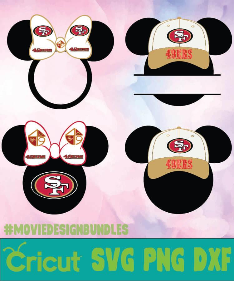 San Francisco 49ers Nfl Mickey Monogram Svg Png Dxf Movie Design Bundles