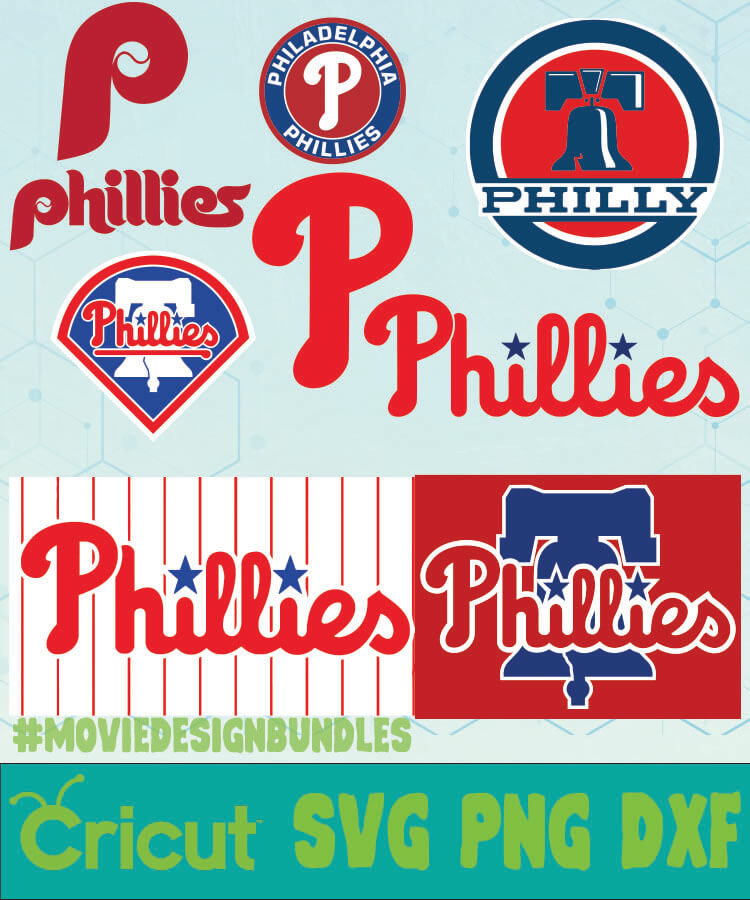 Philadelphia Phillies Mlb Bundle Logo Svg Png Dxf Movie Design Bundles