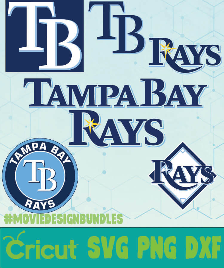 tampa bay rays mlb bundle logo svg png dxf movie design bundles tampa bay rays mlb bundle logo svg png dxf