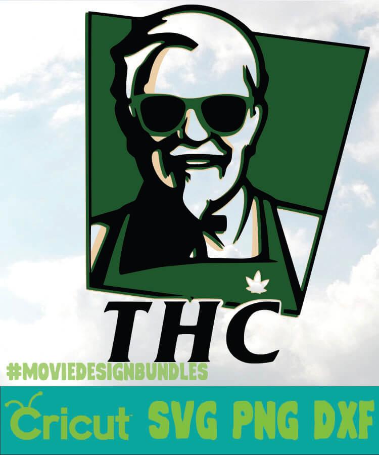 Thc 2 Cannabis Svg Png Dxf Cricut Movie Design Bundles