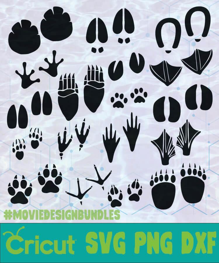 animal footprints bundle animal svg,animal footprints svg