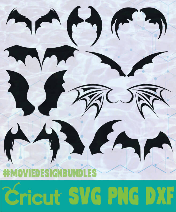 Bat Wings Objects Items Silhouette Logo Svg Png Dxf Movie Design Bundles