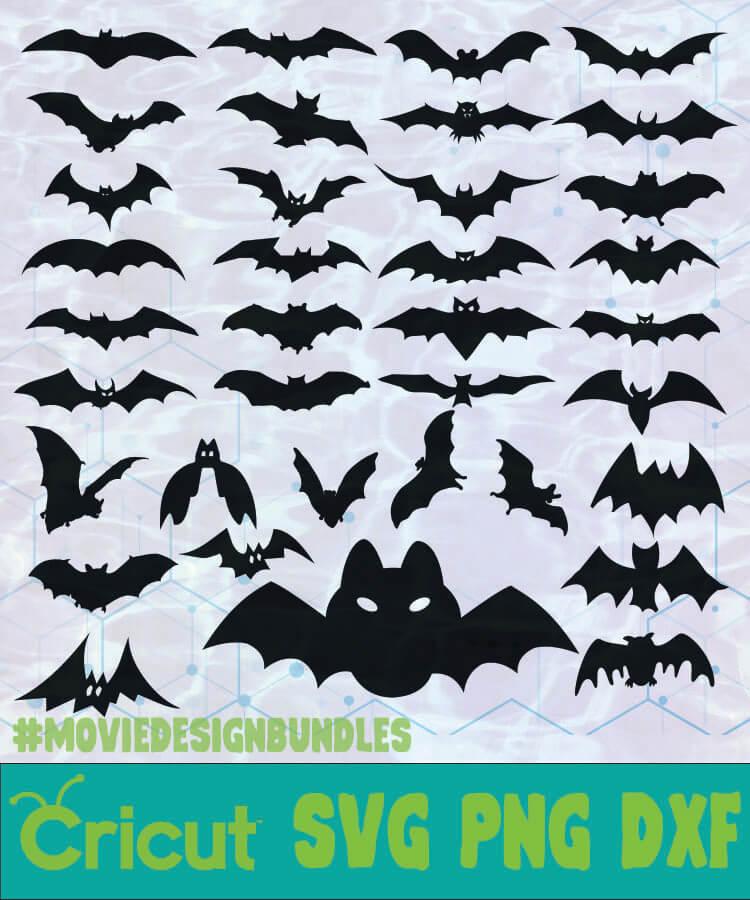 Bats Animal Silhouette Logo Svg Png Dxf Movie Design Bundles