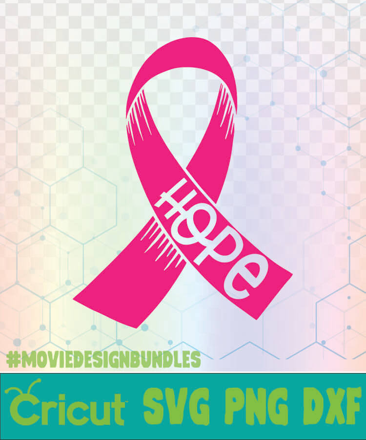 Hope Pink Ribbon Breast Cancer Awareness Quotes Logo Svg Png Dxf