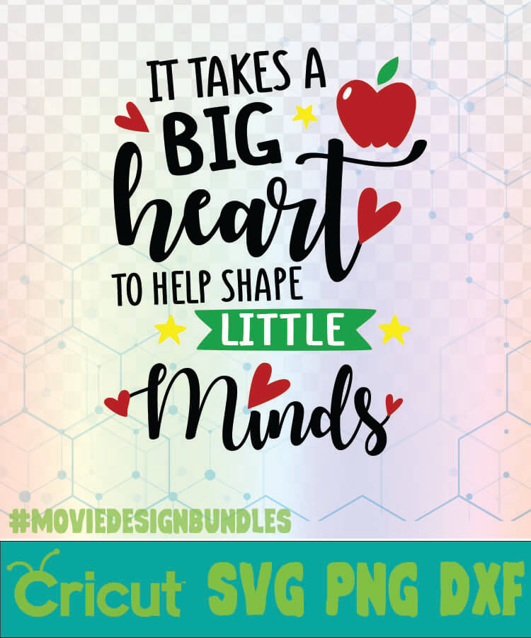 IT TAKES A BIG HEART TO HELP SHAPE LITTLE MINDS APPLE