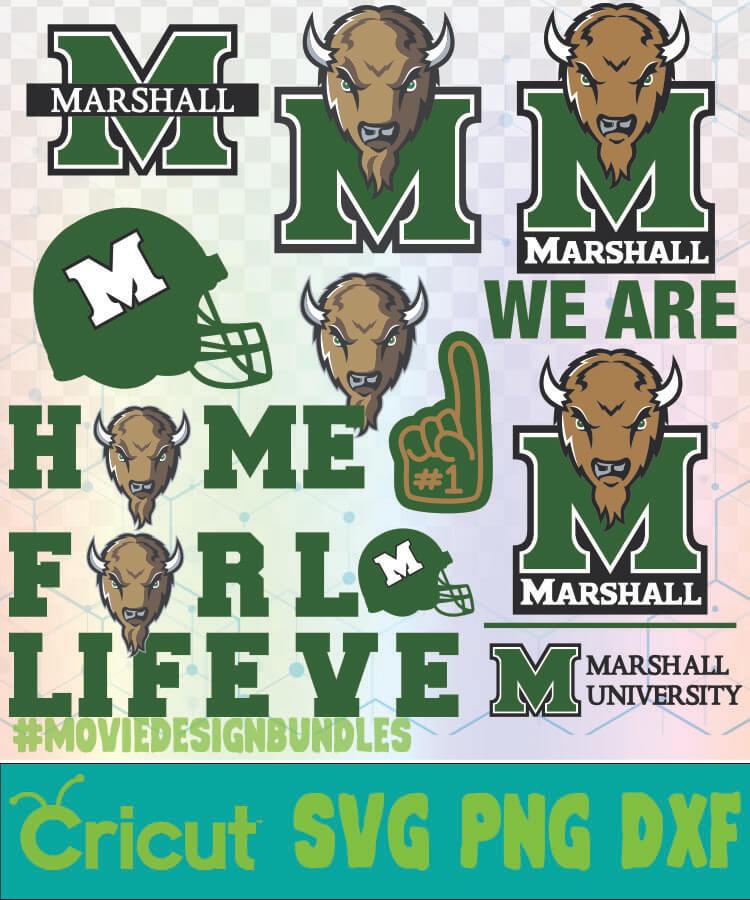 MARSHALL THUNDERING HERD FOOTBALL NCAA LOGO SVG, PNG, DXF ...