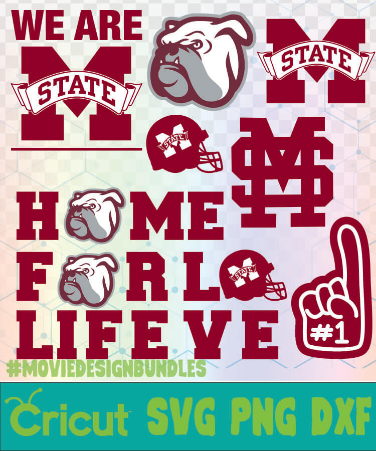 Mississippi State Bulldogs Football Ncaa Logo Svg Png Dxf Movie Design Bundles