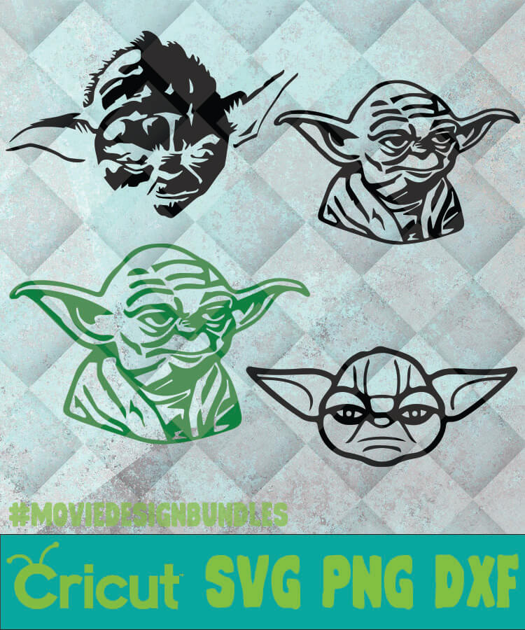 Baby Yoda Face Svg Png Dxf Clipart For Cricut Movie Design Bundles