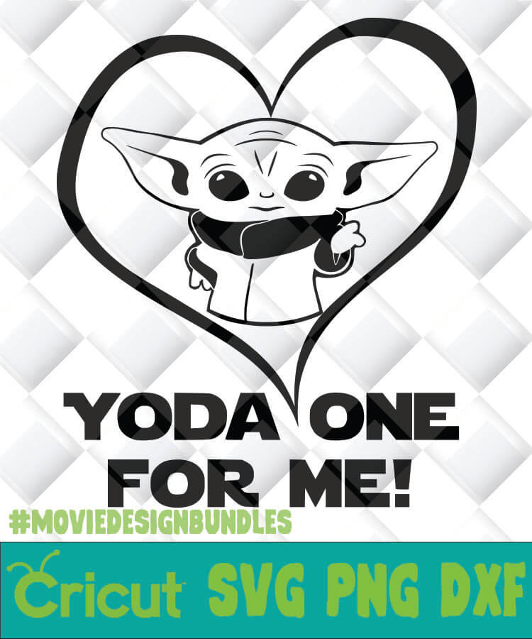 Baby Yoda One For Me Svg Png Dxf Clipart For Cricut Movie Design Bundles