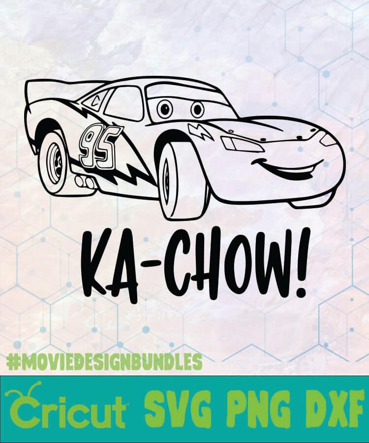 Cars Lightning Mcqueen Ka Chow Disney Logo Svg Png Dxf Movie