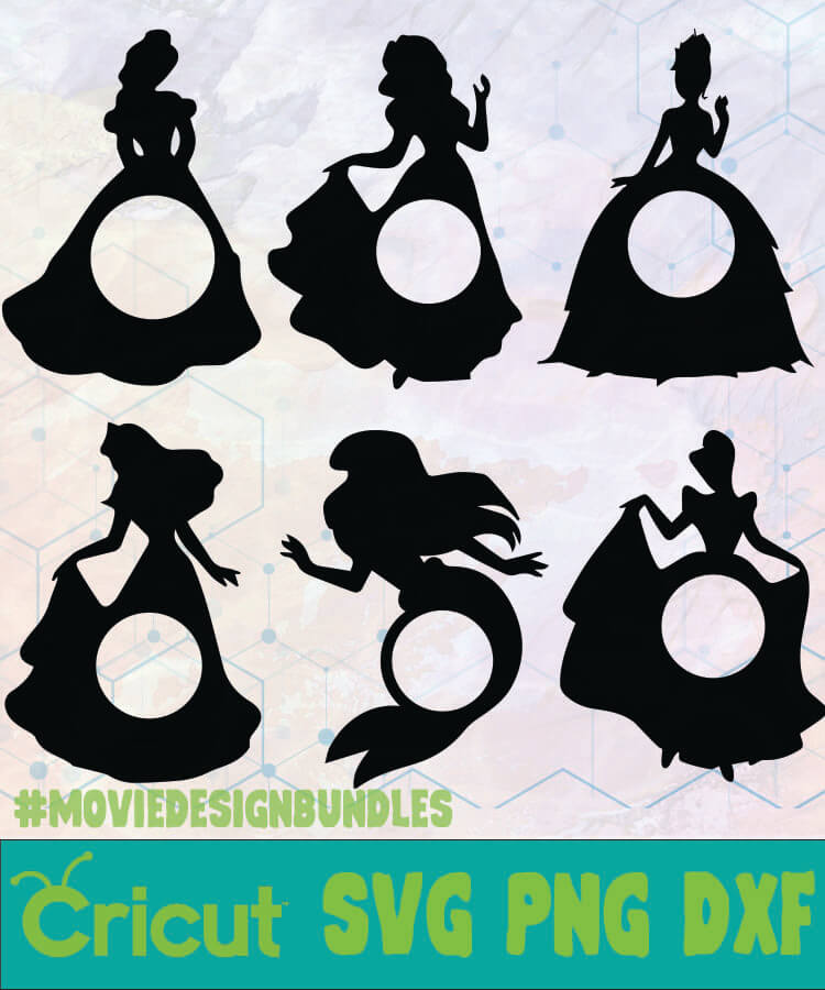 Disney Princess Monogram Disney Logo Svg Png Dxf Movie Design Bundles