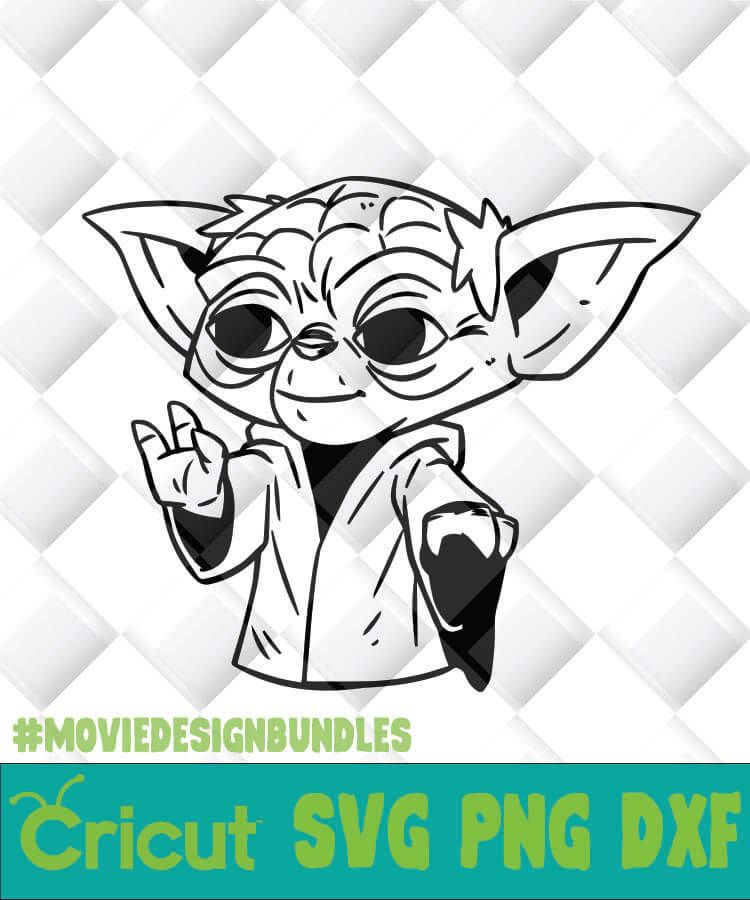 Dr Yoda Svg Png Dxf Clipart For Cricut Movie Design Bundles
