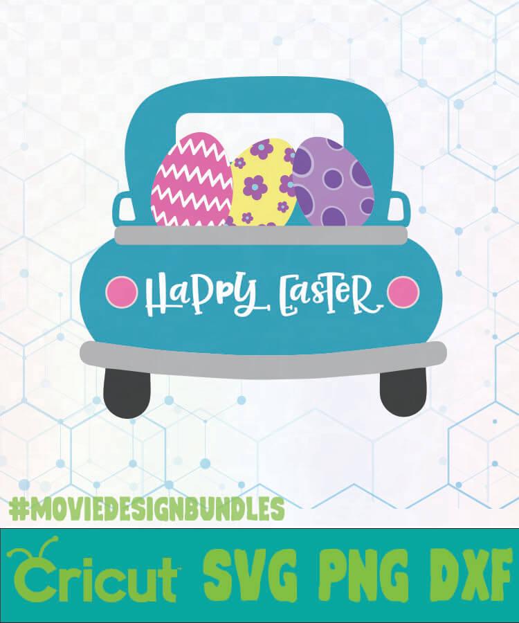 Easter Truck Happy Easter Easter Day Logo Svg Png Dxf Movie Design Bundles