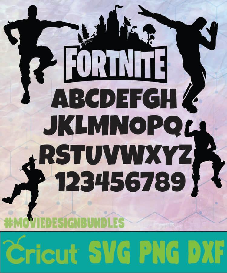 Fortnite Font Bundle Logo Svg Png Dxf Movie Design Bundles Get the cool fortnite fonts and copy and paste them to make your name unique. fortnite font bundle logo svg png dxf