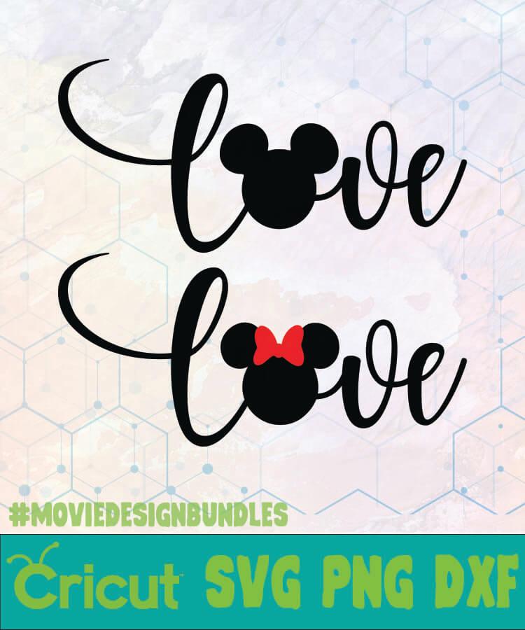 Download MICKEY MINNIE LOVE SCRIPT DISNEY LOGO SVG, PNG, DXF ...