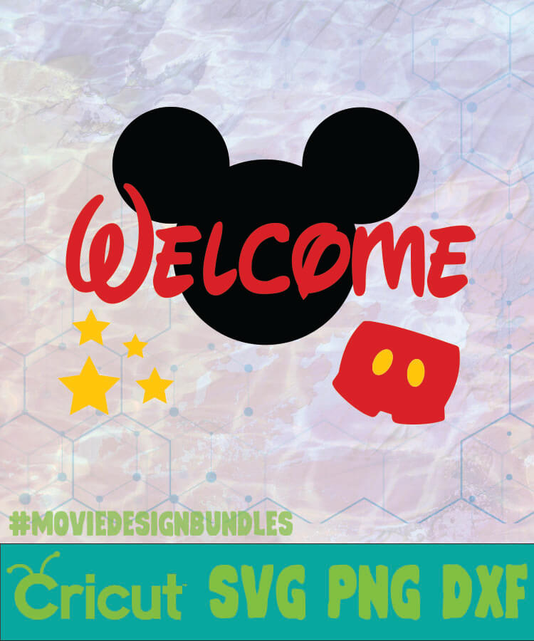 Download Mickey Welcome Mickey Logo Svg Png Dxf Movie Design Bundles