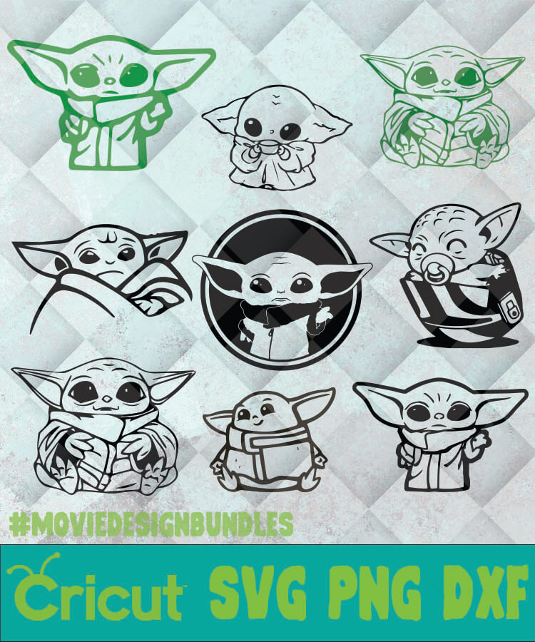 Download THE CHILD BABY YODA OUTLINE SVG, PNG, DXF, CLIPART FOR ...