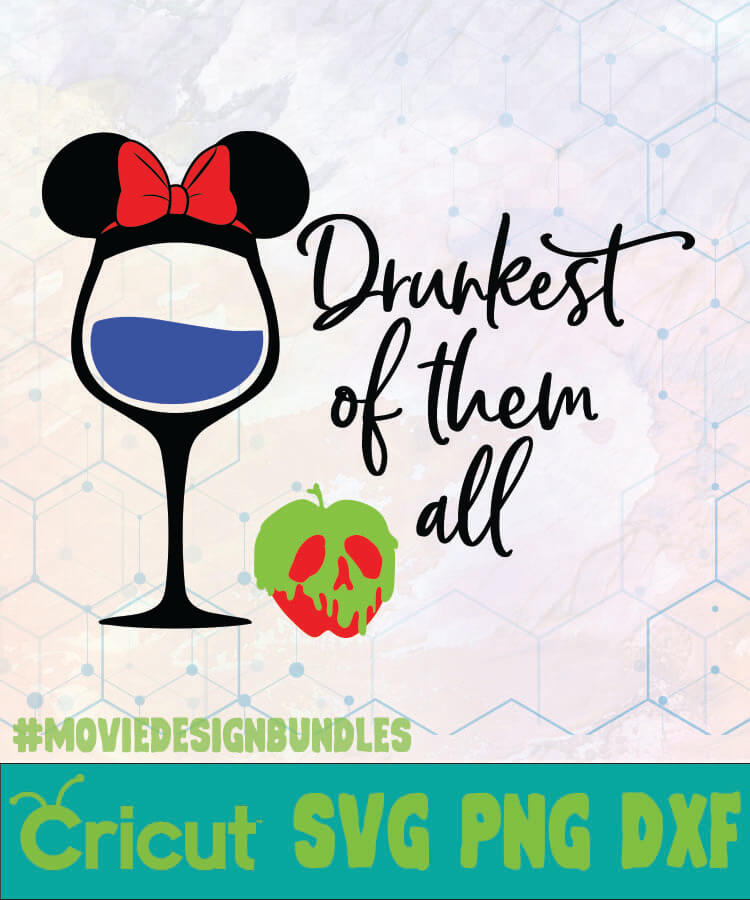 Wine Snow White Drunkest Of Them All Disney Logo Svg Png Dxf Movie Design Bundles