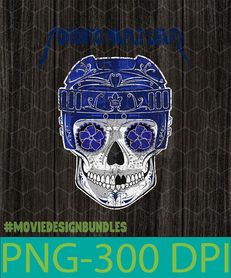 Toronto Maple Leafs Mlb Skull Png Clipart Illustration Movie Design Bundles