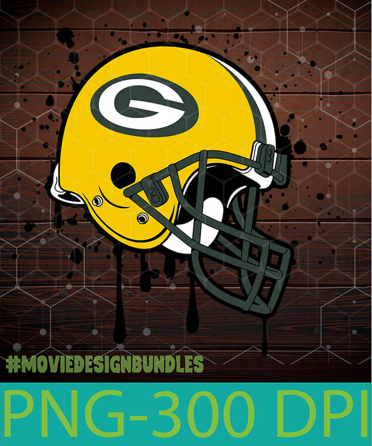 Green Bay Packers Dripping Helmet Png Clipart Illustration Movie Design Bundles